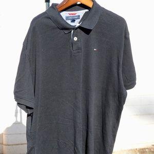 Tommy Hilfiger Navy Blue Button Collar Dress Shirt